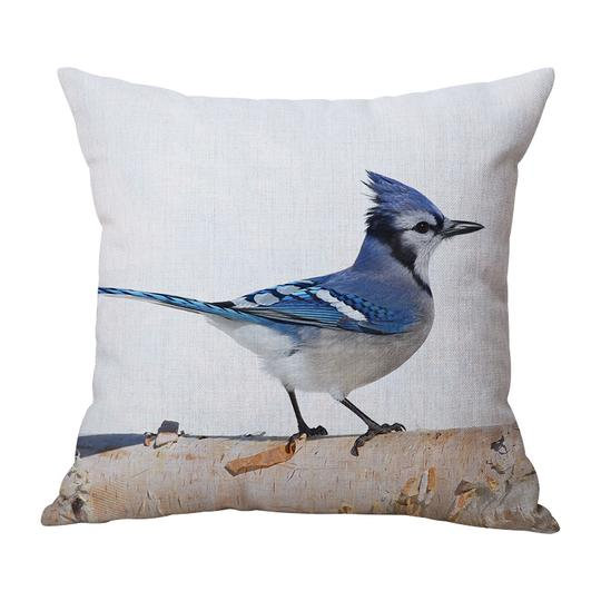 Bluejay Head Cushion With Filler (DT)