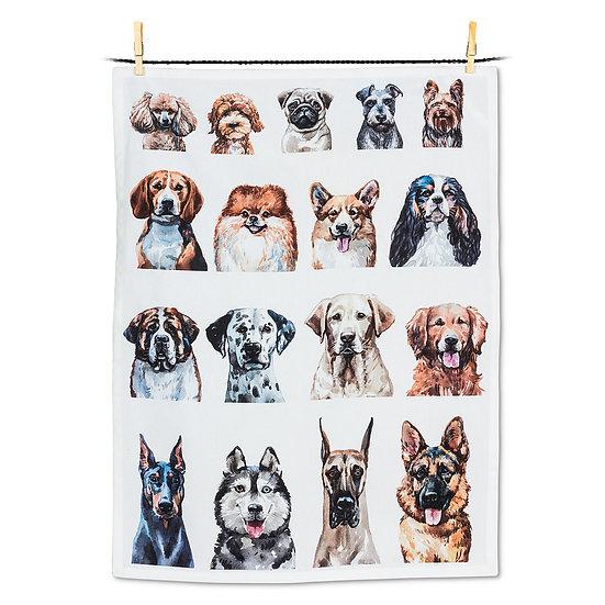 Dog Portraits Tea Towel (AB)