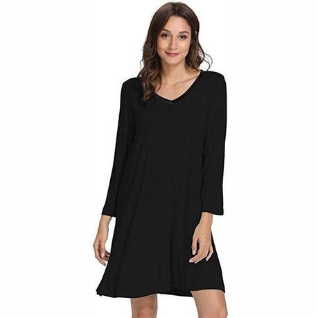 Long Sleeve Bamboo Nightgown(DD)