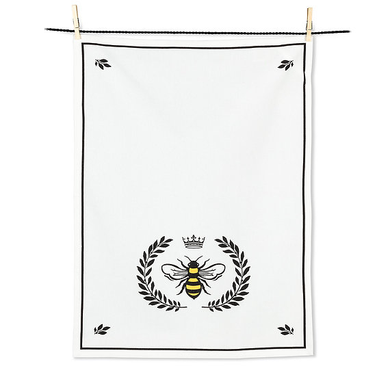 Bee in Crest Tea Towel (AB)