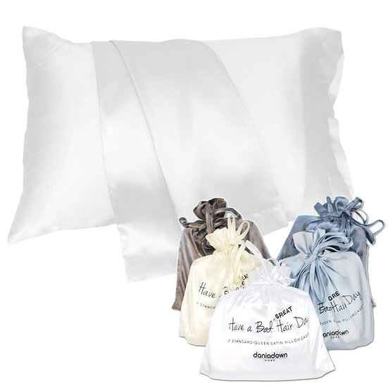 KING SATIN PILLOWCASES-HAVE A GREAT HAIR DAY - (2PC)