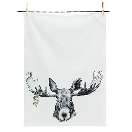 Forest Prince Moose Tea Towel (AB)