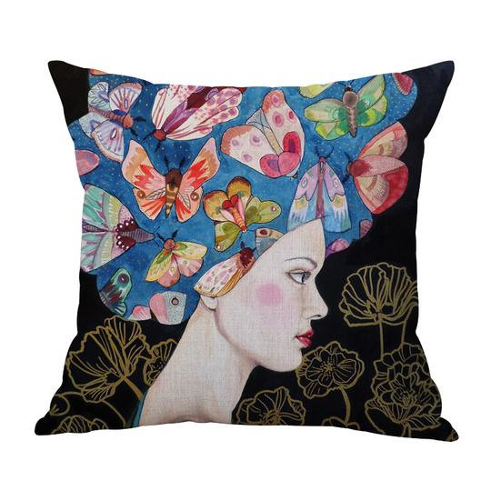 Frida Butterfly Hair Cushion With Filler (DT)