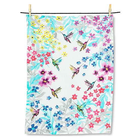 Hummingbird Garden Tea Towel(AB)