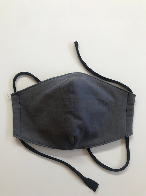 Mask - Blue/Grey Shot Cotton Medium