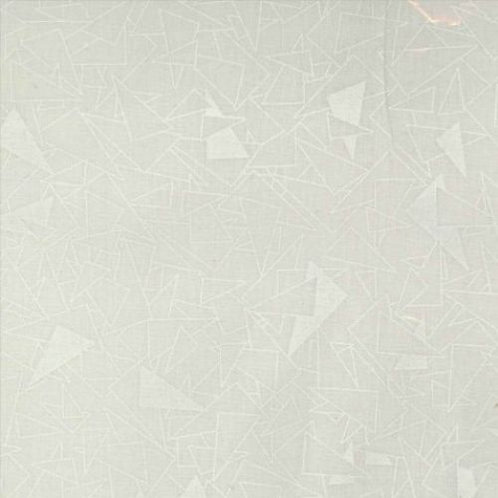 Triangles White on Tint - Price per half metre