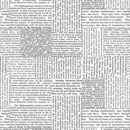 Newspaper Print - Price per half metre
