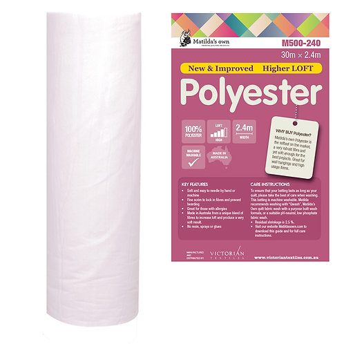 Pure Polyester Batting - Price per half metre