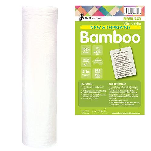 Pure Bamboo Batting - Price per half metre