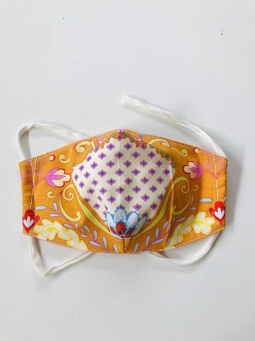 Mask - Orange Flower Medium