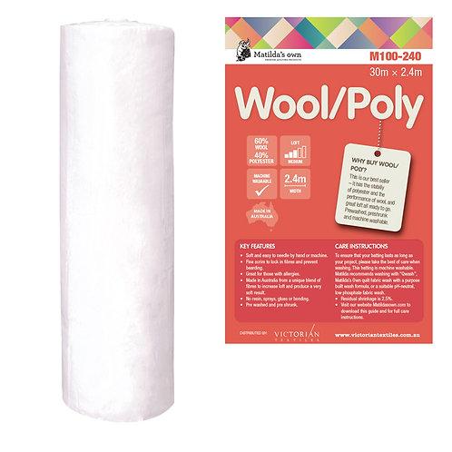 Wool/Poly 60/40 Batting - Price per half metre