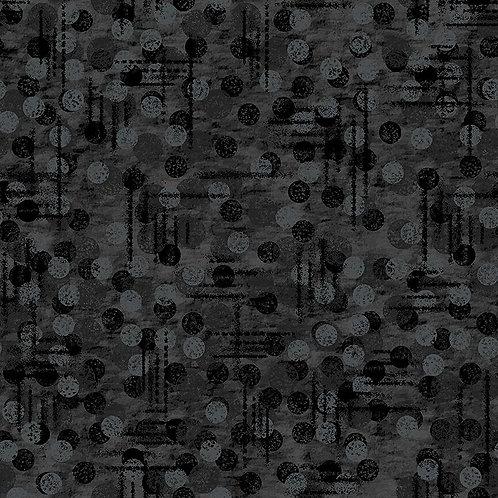 Black Dot Texture - Price per half metre