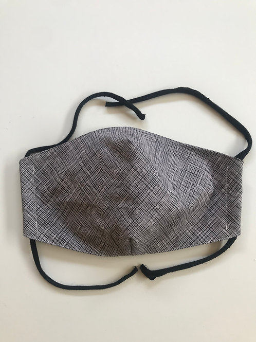 Mask - Black Grey Lines Medium