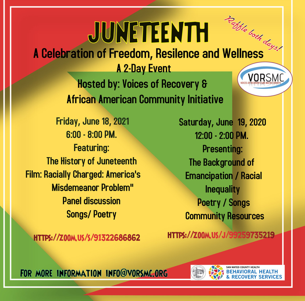 Juneteenth- Two Day Event