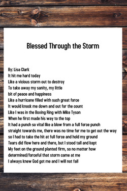Blessed Through the Storm