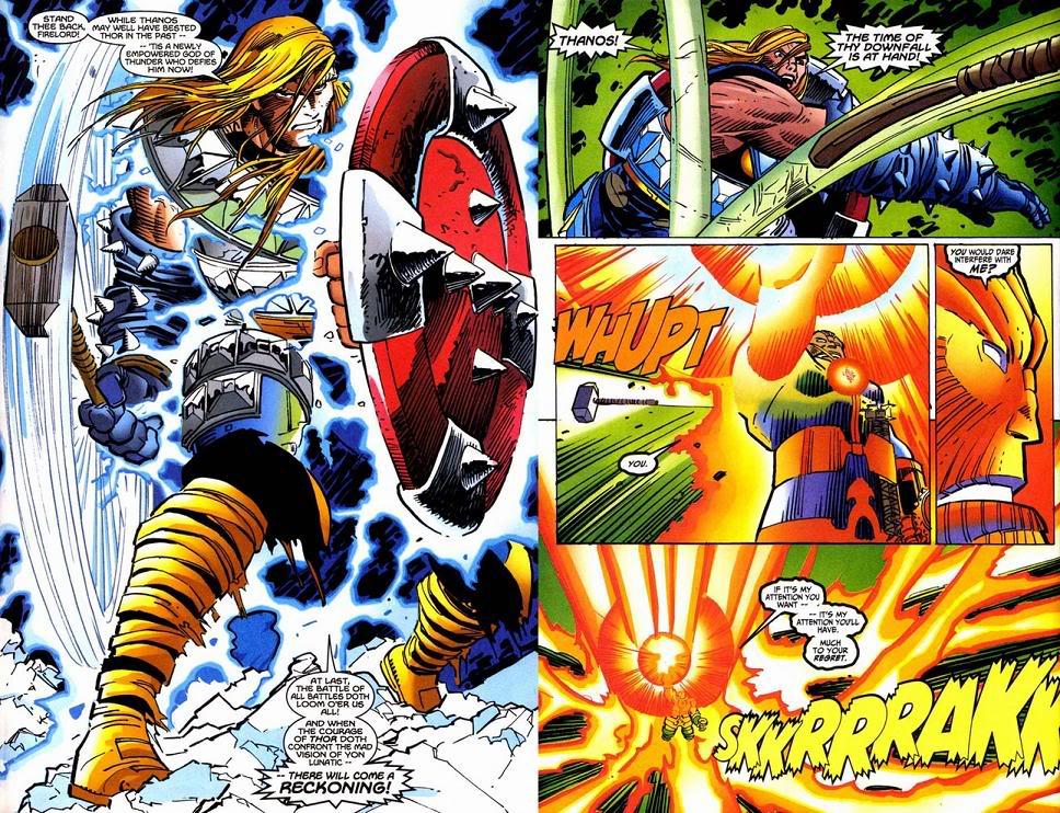 Thor enfrenta o Thanos