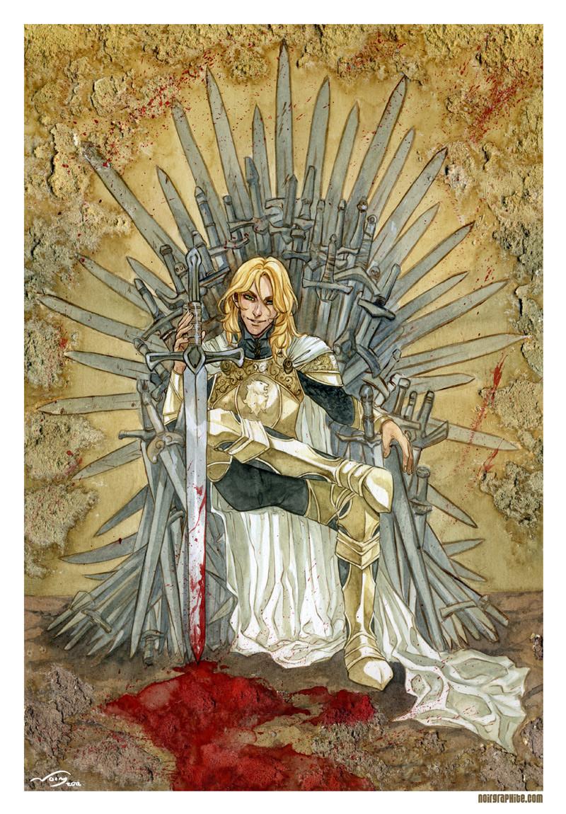 Jaime Lannister no trono de ferro