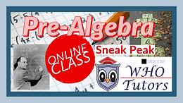Online Class - Pre Algebra