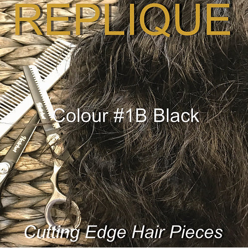 #1B Thin Skin Hair Piece Black Colour