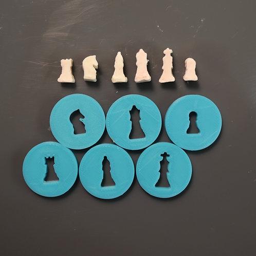 Mini chess pieces
