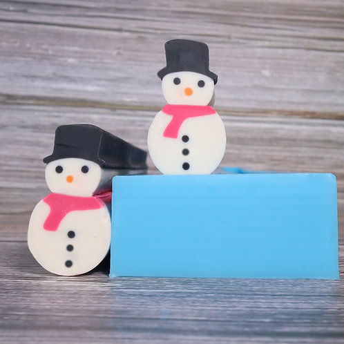 Snowman Embed Mould and Scraper