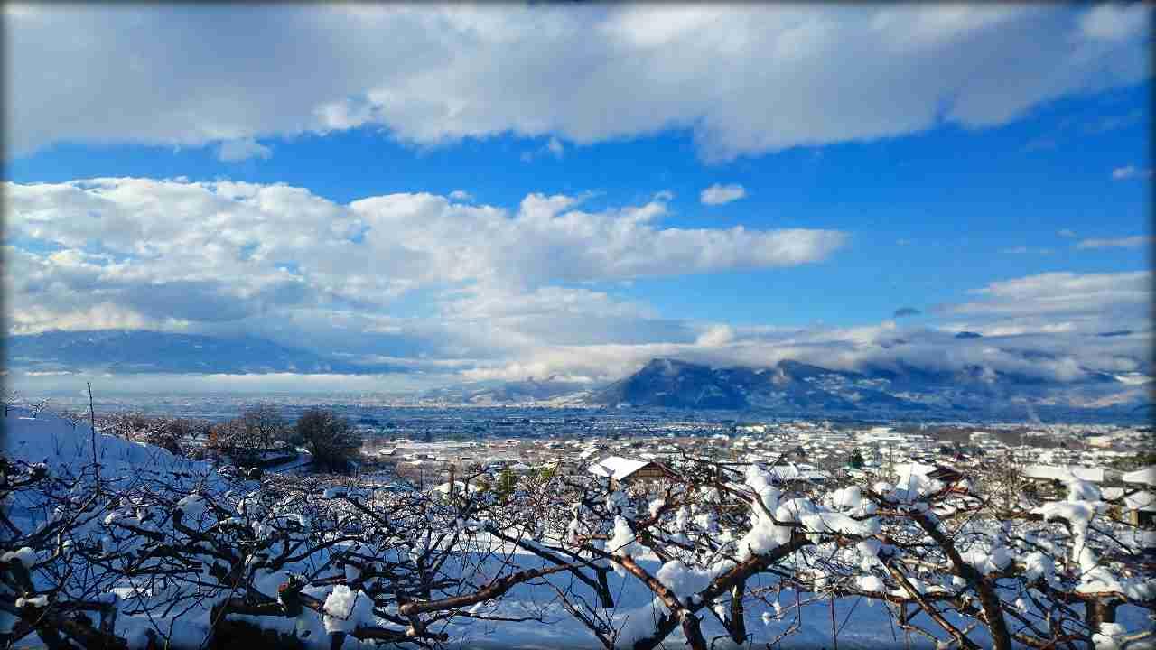 Snowy winter front of nizi