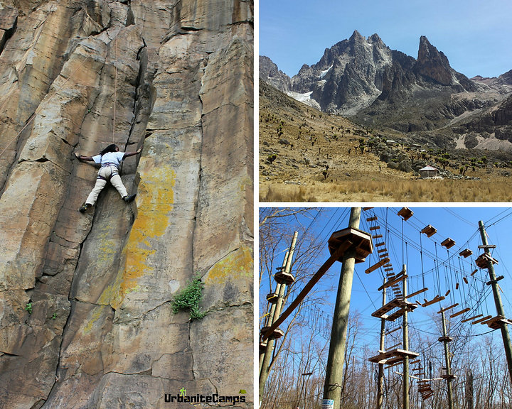 Mountains, rocks and high ropes