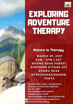 Adventure Therapy Training Kenya- Urbani