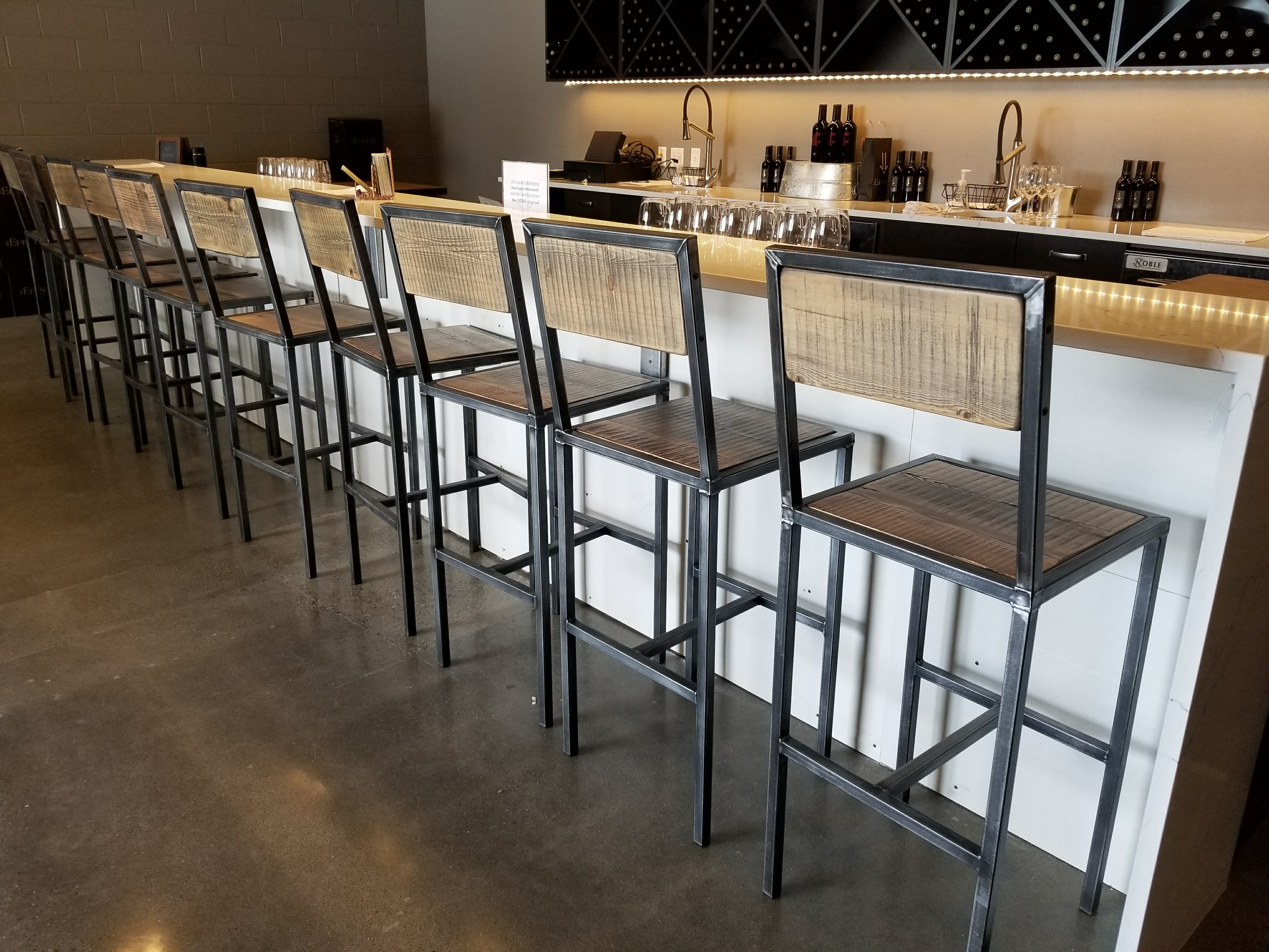 Winery Bar Seating
