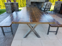 Dining Set with Benches