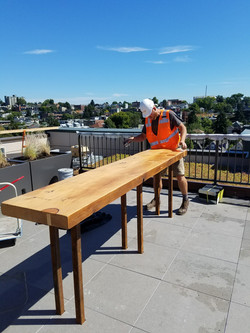 Roof top bar installation