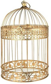 Gold Gift Card Bird Cage