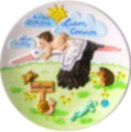 Geburtseller,Taufteller, Geburtenteller, Birthplate, Erinnungsteler