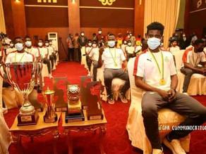 Nana Akoffo-Addo  Rewards heroic Black Satellites team