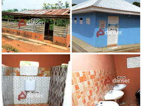 Mr and Mrs Bempong, Evans Owusu donate 20-seater toilet facility to Collins SHS in Agogo