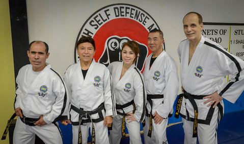 GM Van Binh with his instructors