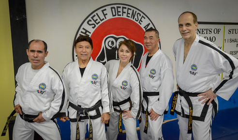 GM Van Binh with his instructors