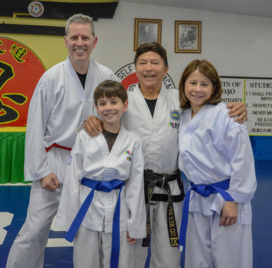 Family training together