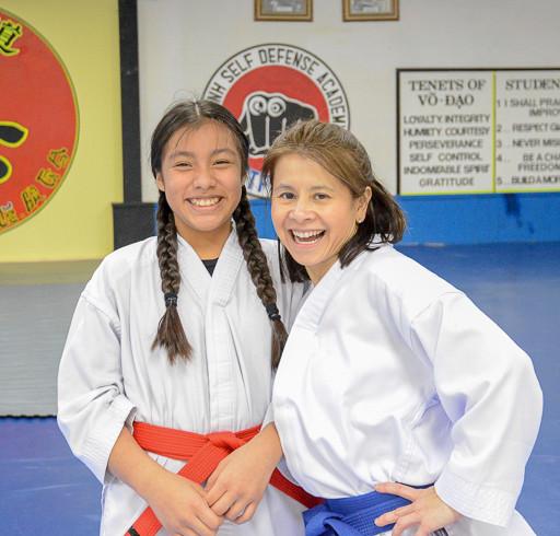 Amber & Edna after a TKD class