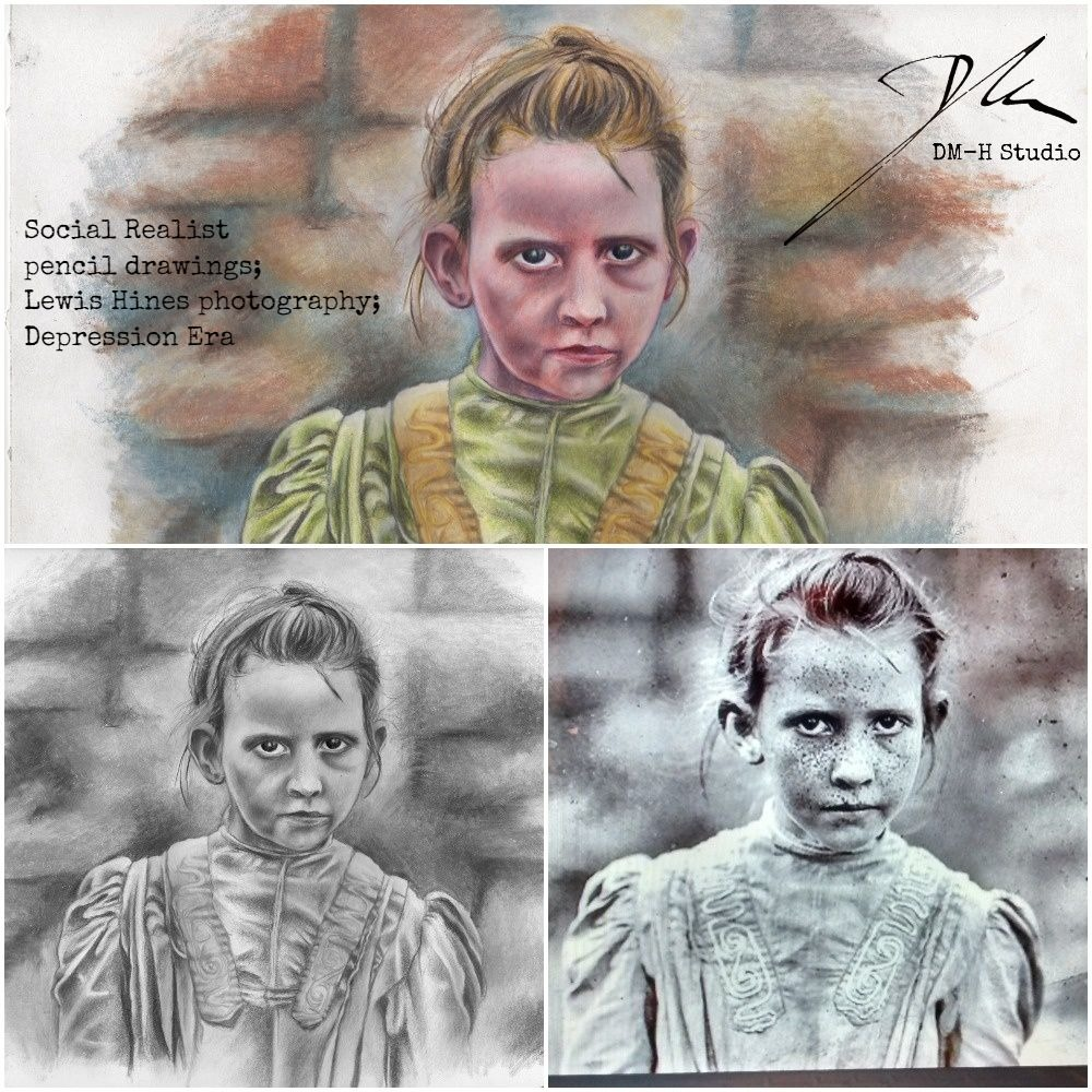 LLewis Hines social realism collage
