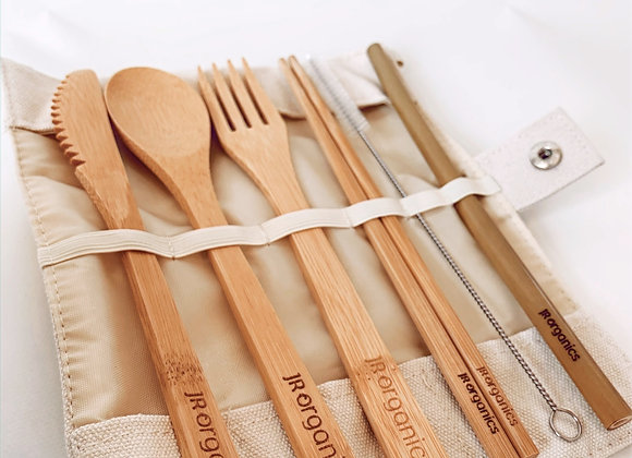 """BAMBOO """"To go"""" cutlery set"""