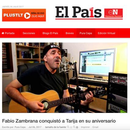 Fabio Zambrana conquistó a Tarija en su aniversario