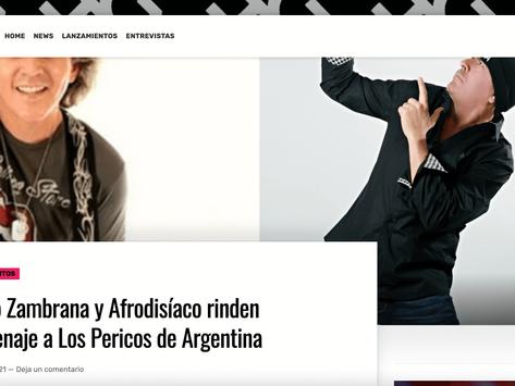 Fabio Zambrana y Afrodisíaco rinden homenaje a Los Pericos de Argentina