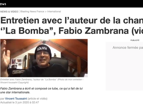 Entrevista de Fabio Zambrana a Blasting News Francia