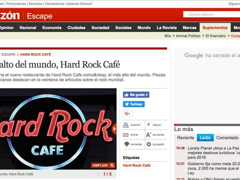 El más alto del mundo, Hard Rock Café