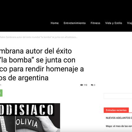 "Fabio Zambrana autor del éxito mundial ""la bomba"" se junta con afrodisíaco para rendir homenaje..."