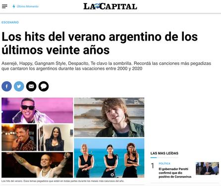 Los hits del verano argentino de los últimos veinte años