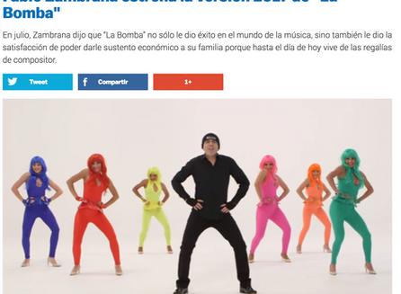 """Fabio Zambrana estrena la versión 2017 de """"La Bomba"""""""
