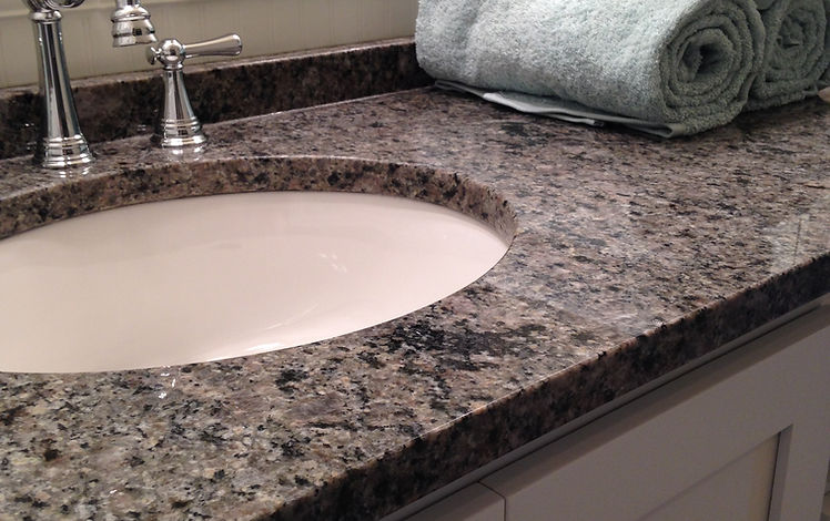 Custom kitchen granite, quartz countertops