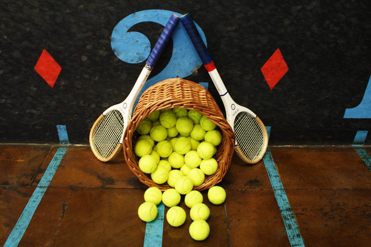 Rackets and Ball basket